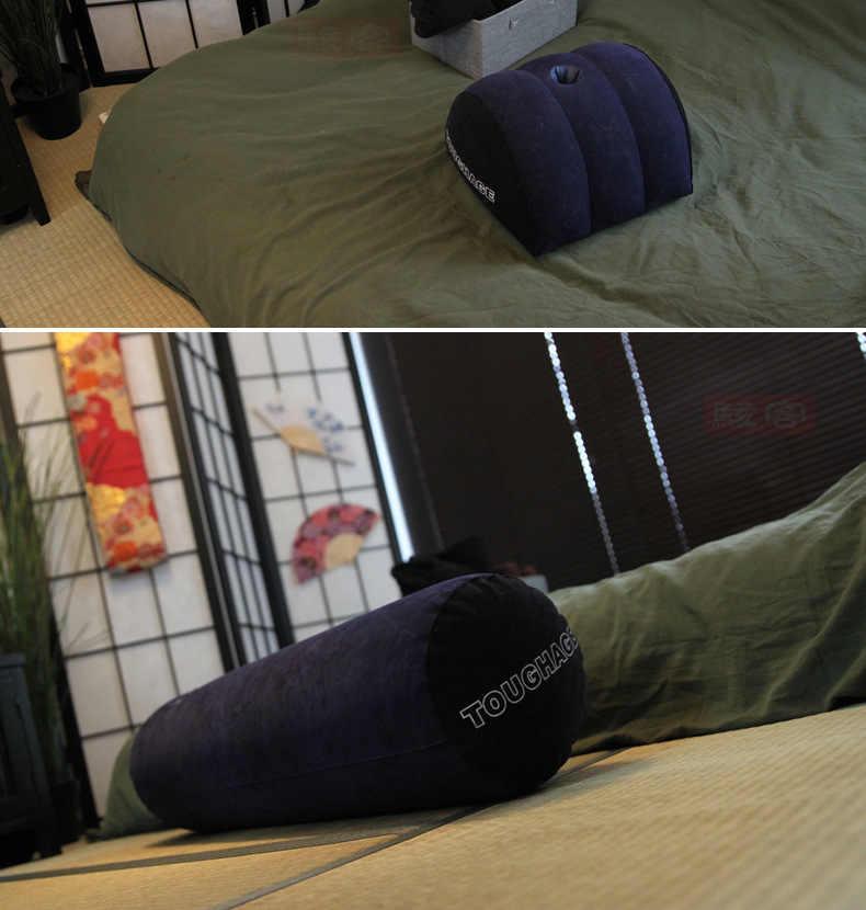 เร้าอารมณ์ Wedge โซฟา Flocking Inflatable Sex Aid Wedge หมอน Love ตำแหน่ง Cushione เพศเฟอร์นิเจอร์ผู้ใหญ่เกมเพศของเล่นสำหรับคู่รัก