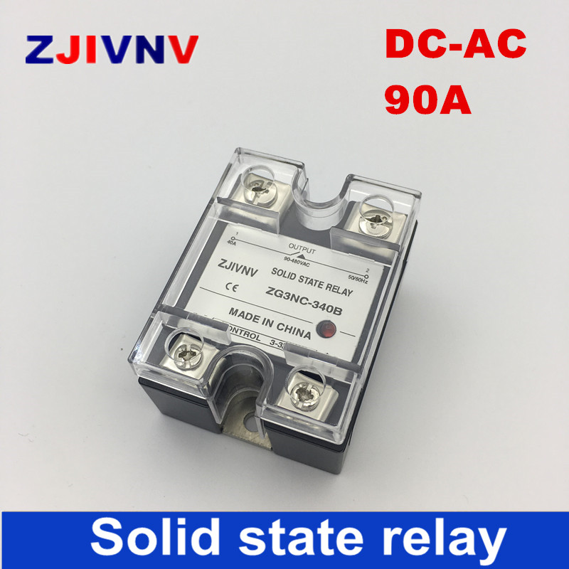 single phase solid state relay SSR 90a DC control AC Zero crossing basic type SSR/ ZG3NC-390B free shipping mager 10pcs lot ssr mgr 1 d4825 25a dc ac us single phase solid state relay 220v ssr dc control ac dc ac