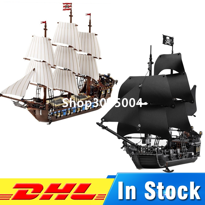 DHL LEPIN 16006 Pirates of the Caribbean The Black Pearl Ship+ 22001 Imperial Warships Building Blocks Set lepin 16006 16016 pirates of the caribbean 16009 queen anne s revenge legoinglys 70618 black pearl model building kits blocks