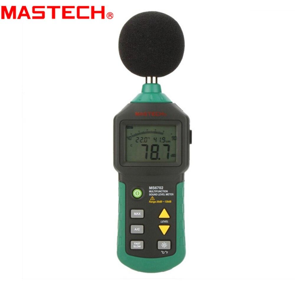 MASTECH MS6702 Digital Sound Level Meter Noise Decible Meter Temperature Humidity Meter mc7812 induction tobacco moisture meter cotton paper building soil fibre materials moisture meter