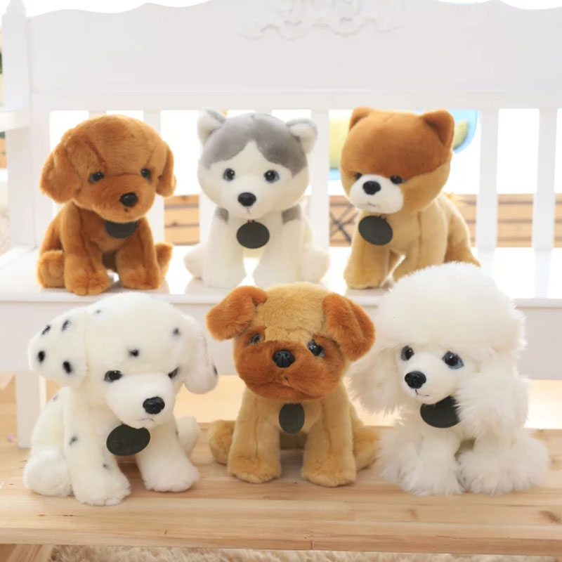 35cm Hot Sale Boo Dog Husky Dog Plush Toy Dalmatian Doll Simulation