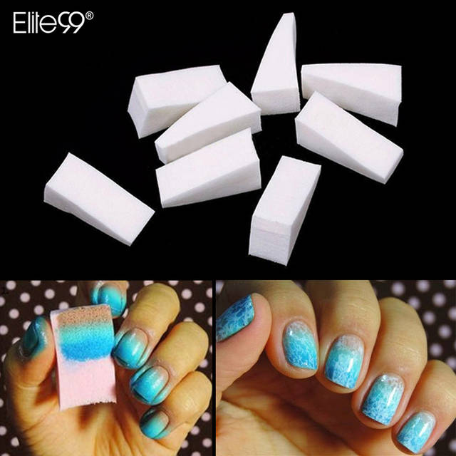 Elite99 12pcs Nail Art Gradient Color Stamping Sponge Set Triangle Sponge  Foam Gel Polish Varnish 3D Image Transfer DIY Soft Kit-in Nail Form from