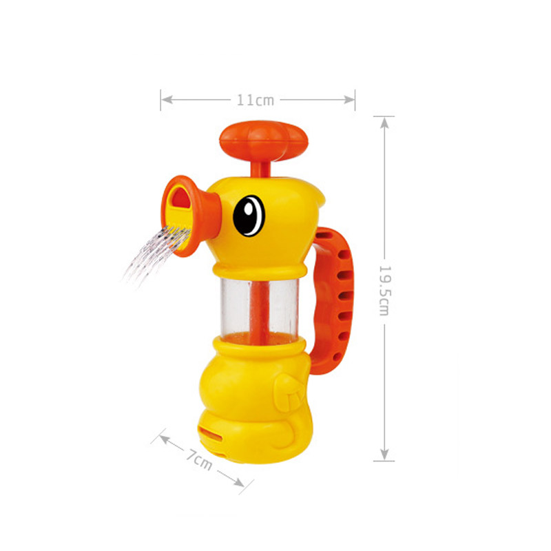 Children Bath Toy Duck Kids Bathroom Bathtub Pool Swimming Shower Playing Spray Water Pump Toys For 0-12 Months Baby YH-