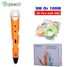 3D Pen 3D Model BAPASCO 3D Printing Pen For Kids Creative DIY Drawing 3D Doodle Pen Add Free ABS/PLA Filaments Education Tools