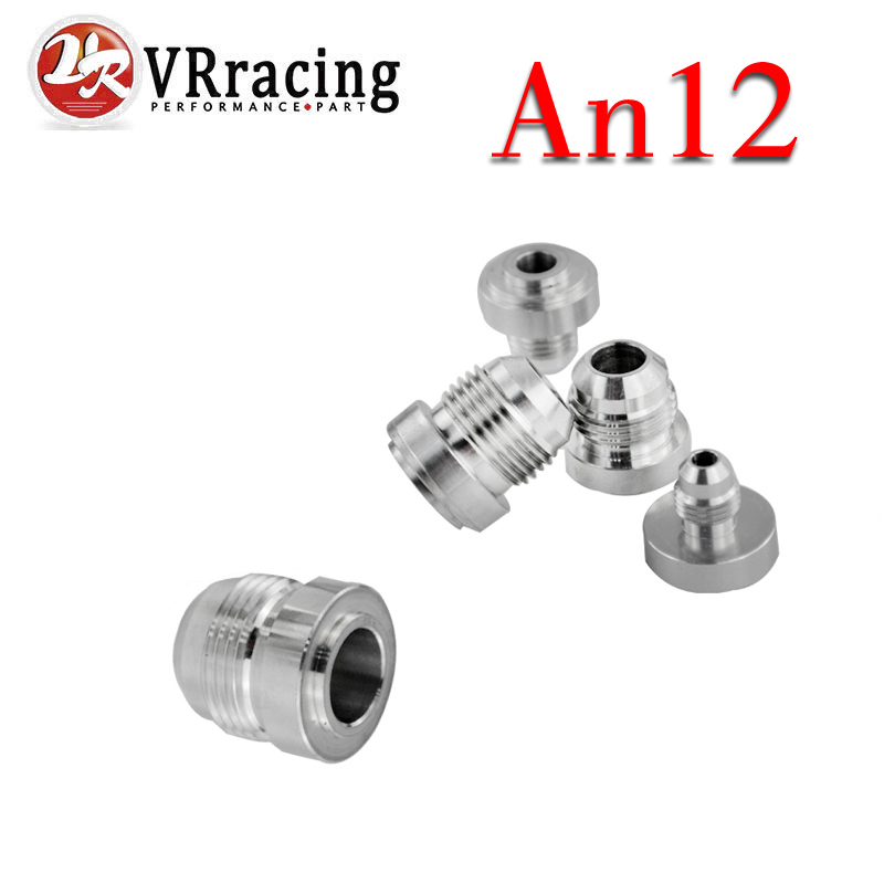 Vr Racing Top Quality Aluminum An12 an Straight Male Weld Fitting Adapter Weld Bung Nitrous Hose Fitting Silver Vr-sl617-7212