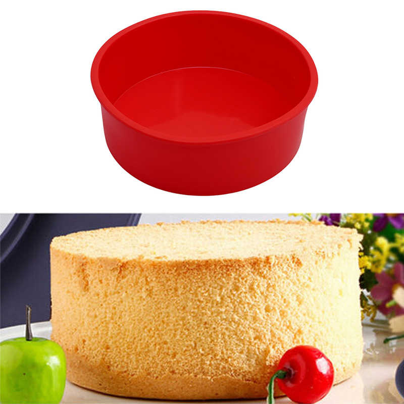 3D Round Form Silicone Mold Cake Pan Muffin Cake Decorating Tools Pastry Baking Tray Mould Stencil Kitchen Bakeware