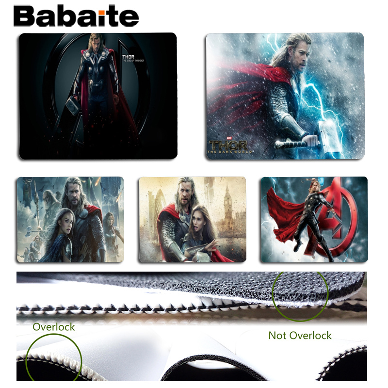 Babaite Thor Customized laptop Gaming mouse pad Size for 25x29cm Gaming Mousepads