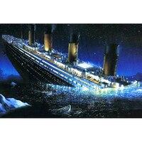 Diy Diamond Painting Titanic Square Full 3D Cross Stitch Picture Rhinestone Diamond Embroidery Handmade Needlework BK