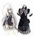 spot goods Halloween clothing!!!Haiyore Nyarukosan Nyarukosan Black White Gothic Cosplay Costume Deluxe