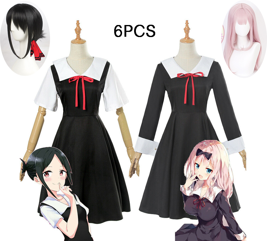 Anime Kaguya-sama: Love Is War Cosplay Costume Kaguya Chika Cosplay Costume Japanese School Uniform Women Summer Dress And Wigs