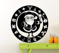 Santa Claus Wall Sticker Winter Christmas Tree Gift New Year Vinyl Decal Home Nursery Room Interior