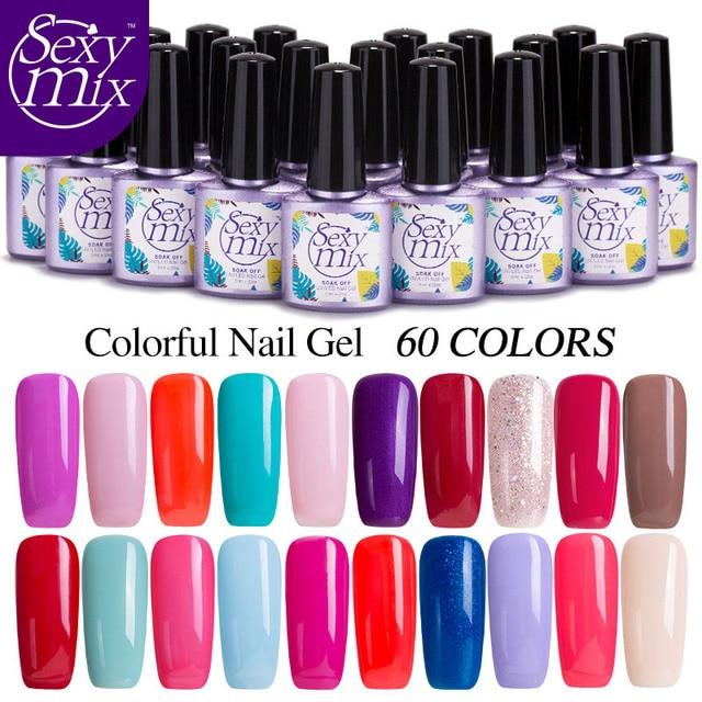 Sexymix 9ml Uv Gel Nail Polish Colorful Natural Nail Gel Polish