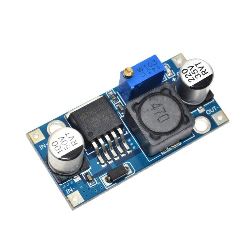 Como muestra la imagen DC 6V-40V a 5V 3A 150KHZ Frecuencia Doble carga USB DC-DC M/ódulo convertidor reductor M/ódulo reductor