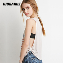 IUURANUS summer Plus Size Tank Tops Women Fashion EAGLES Print loose T-shirt Sleeveless O-Neck casual Vest Clothing