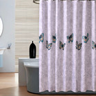 KISS QUEEN Bathroom shower curtain waterproof curtain polyester fabric with plastic hook for home hotel bathroom