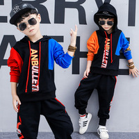 3 9 Years Sports Suits for Boy Fashion Printed Casual 2pcs Kids Clothes Hooded Sweatshirt Harem Pants Boys Teenage Clothing Sets
