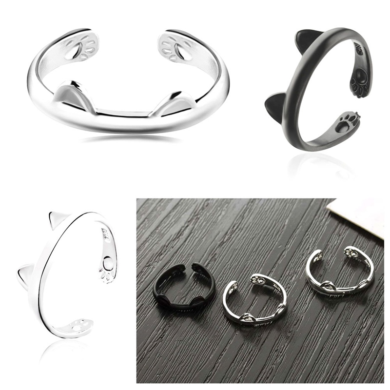 Cat Paws and Ears Ring - Valentine Gift - Cameow