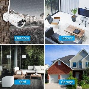 Image 2 - Jennov sistema de cámara de seguridad inalámbrica HD, Kit NVR de 5MP y 4 canales, cámara IP de videovigilancia para exteriores, WiFi, videovigilancia H.264 + sistema de Audio