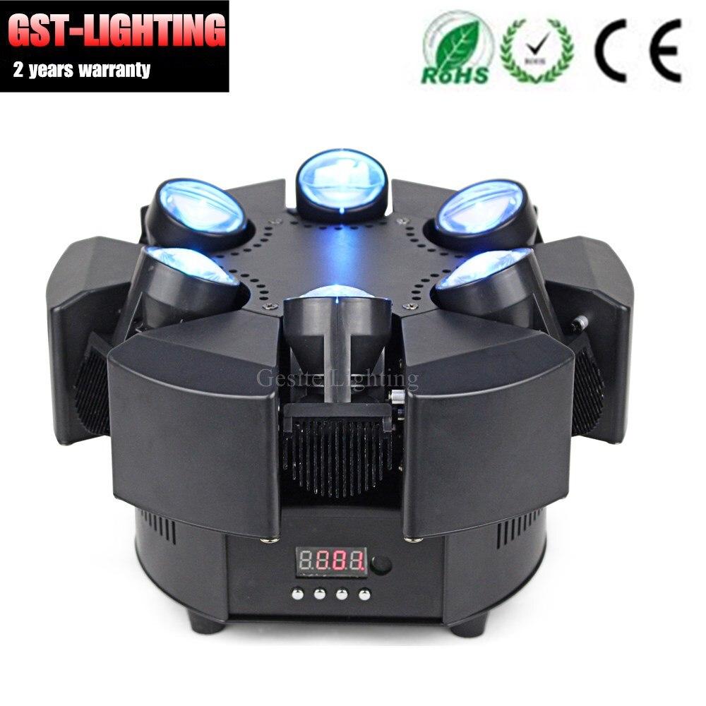 2 stks/partij RGB Enkele Choive Kleur Bloemen 6 Heads Smart Beam Moving Head Licht - 5