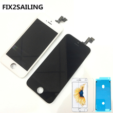 ФОТО fix2sailing 100% grade aaa lcd display with touch screen digitizer assembly replacement for apple iphone 5s black/white