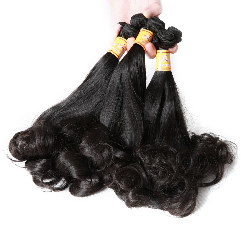 3 bundles Aunty Funmi Hair Egg curl natural color double drawn virgin - Hair Salon Supply - Photo 3