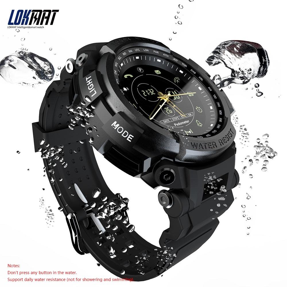 LOKMAT MK28 Smart Watch men electronic clock men's watches Waterproof Pedometer Calories Alarm Sports Mens digital Smartwatch