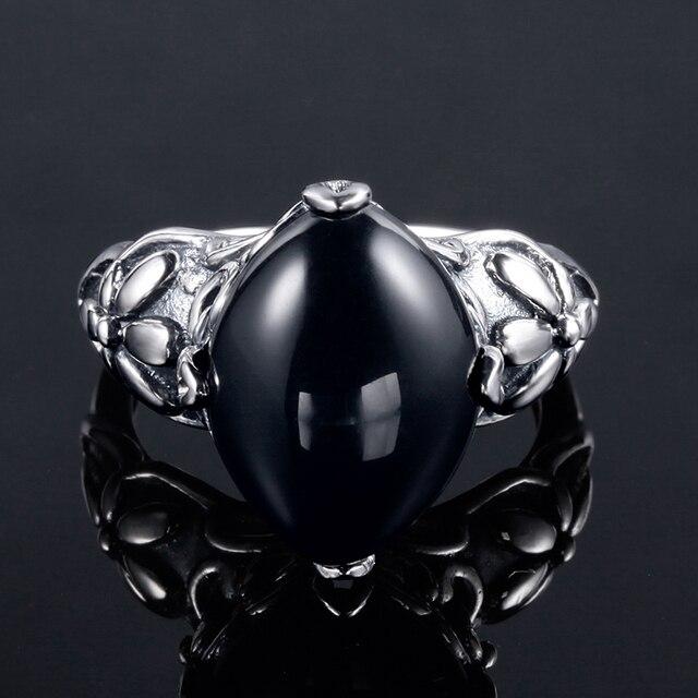 bague femmes Agate noire  4