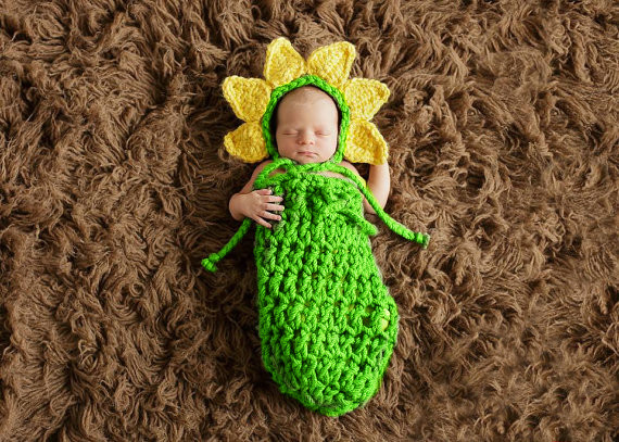 Baby Newborn Photography Props Costume Toddler Animal Beanie with Diaper Cover Cocoon Handmade Knitted Hat 0 12M SG041