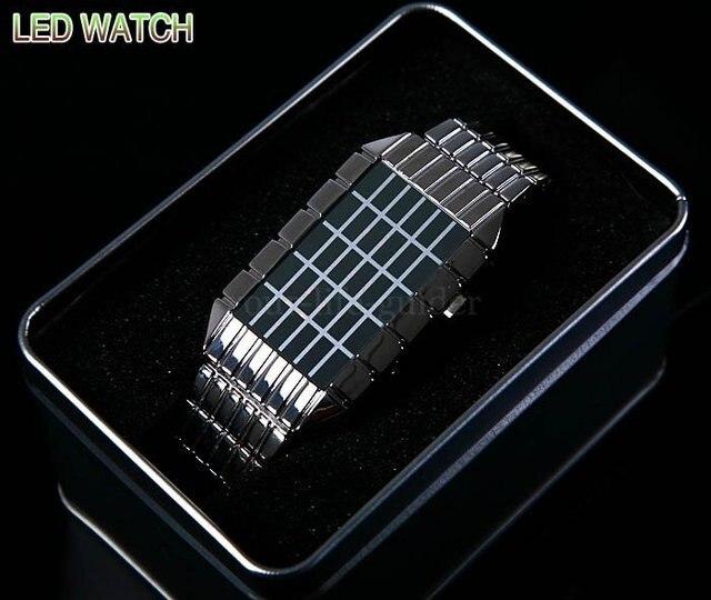 Мода часы Вспышки Pimp Star Performer LED Watch Мужские часы Black watch freeship
