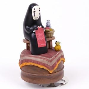 Image 2 - Anime Cartoon Miyazaki Hayao Spirited Away No Face Music Box PVC Action Figure Collection Toy Doll 12cm