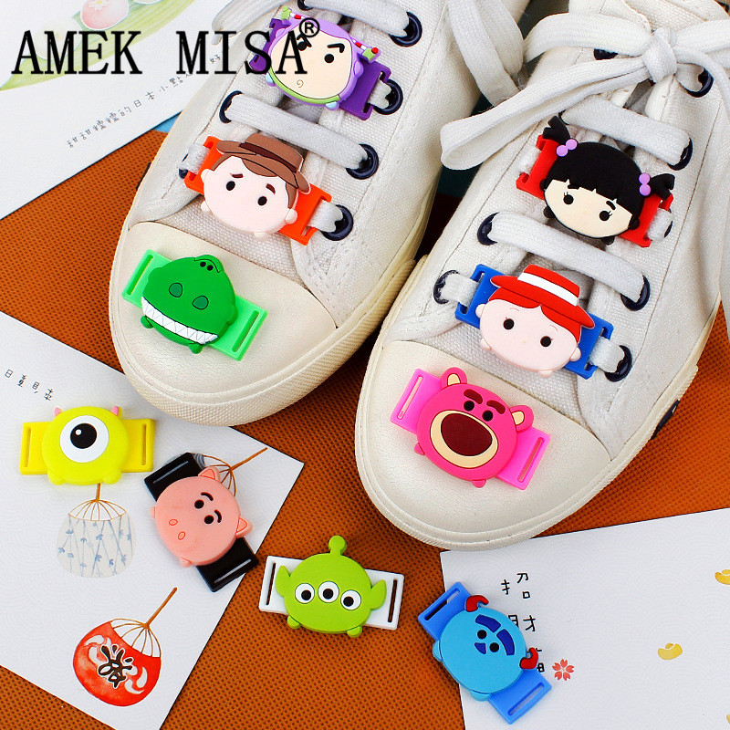 Shoes Self-Conscious 10 Pcs A Set Shoe Decorations Pvc Cartoon Toy Story Casual Shoes Accessories Novelty Sports Shoes Shoelace Charms M437 Amek Misa
