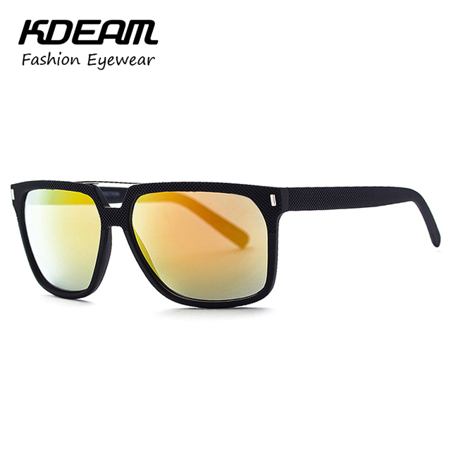 KDEAM Reversal Imprinting Rectangle Men Sunglasses Sport Lunette De Soleil Summer Shades Fashion Glasses Eyewear With Box KD3736