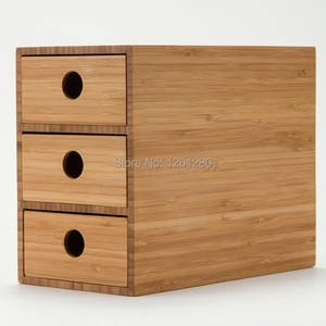 Bin Storage-Box Cabinet-Case Drawer Organize Wooden-Tool Home-Craft Jewelry Cosmetic