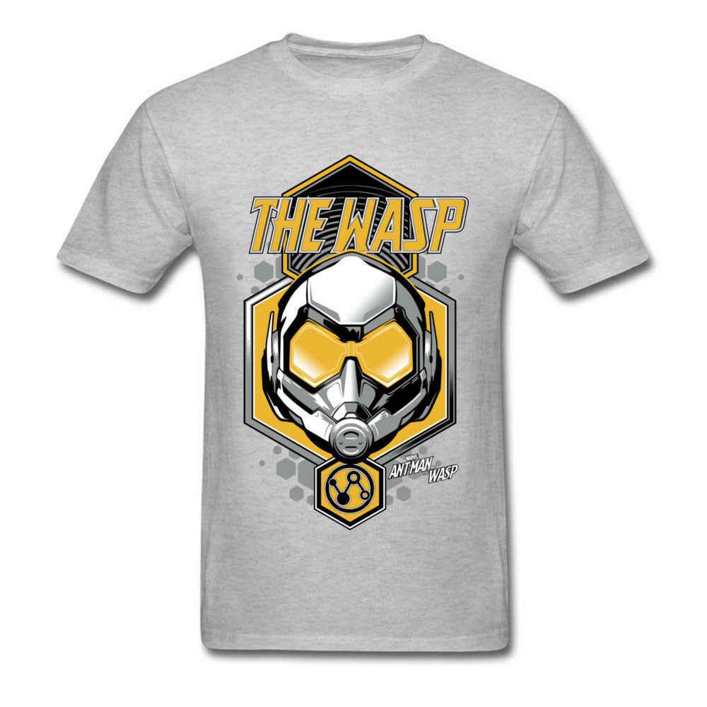Новый муравей и ОСА фильм Мужская рубашка Marvel комиксов мужчин s Футболка 100% хлопок Топ