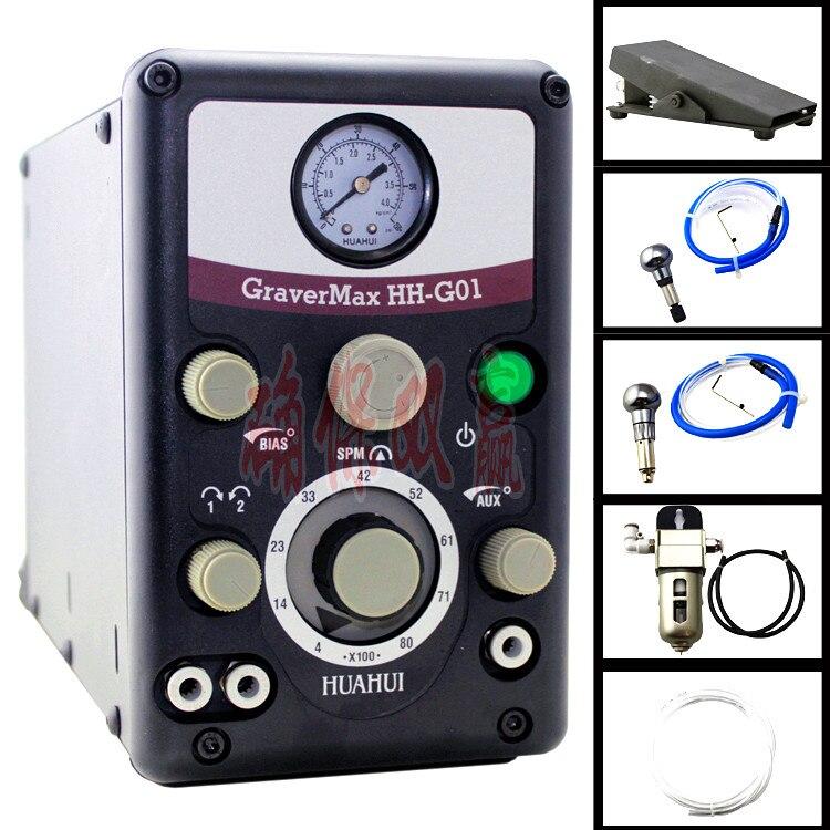 Nuevo Graver. G8 de neumático impacto máquina de grabado GRS grabado con 2 piezas de joyería de grabador
