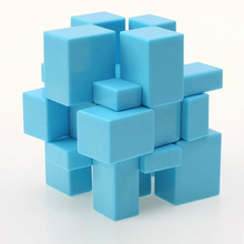 LeadingStar YuXin Monochrome Stickerless Mirror Magic Cube Blue Childern Educational Brain Teaser Toy New Arrival zk30