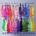 Кукольные волосы 25 см, высокотемпературные кудрявые волосы для шарнирных кукол 1/3, 1/4, 1/6, «сделай сам», волнистые кукольные парики ручной раб...