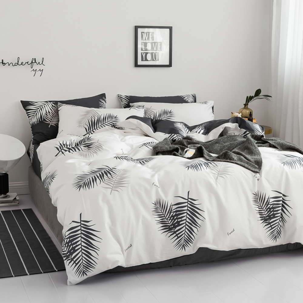 Youth moden pattern 100% cotton Bedding set Duvet cover set with pillowcase Double queen king 4pcs Spring summer soft comfortabl-in Bedding Sets from Home & Garden    2