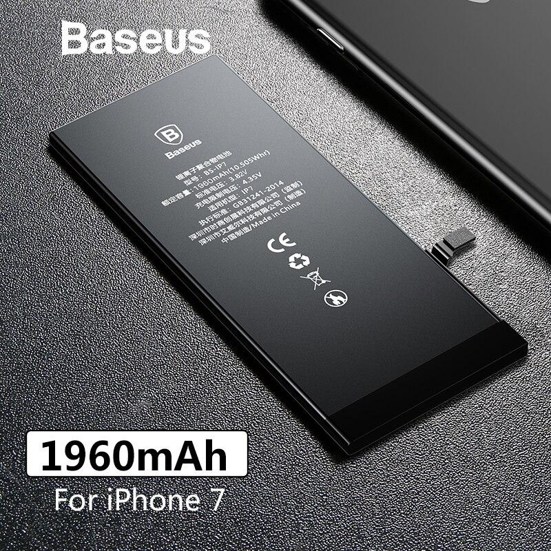 Baseus 1960 mAh Original de la batería del teléfono para iPhone 7 de alta capacidad de baterías de reemplazo para iPhone 7 con libre de herramientas de reparación de