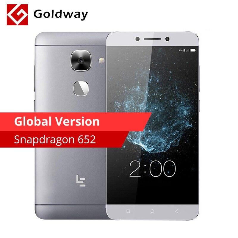 """Глобальная версия оригинальный LeTV LeEco Le 2X526 3 ГБ Оперативная память 64 ГБ мобильного телефона Восьмиядерный Snapdragon 652 5,5 """"FHD 16MP отпечатков пальцев ID"""