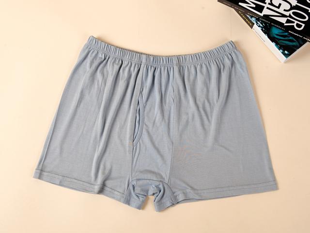 El hombre más tamaño verano mediados sólido 100% seda stretch Boxers de hombre otoño invierno de gran tamaño 100% calzoncillos de seda de Los Hombres de los boxeadores