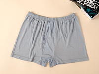 Man Plus Size Summer Mid Solid 100 Silk Stretch Boxer Shorts Male Autumn Winter Oversized 100