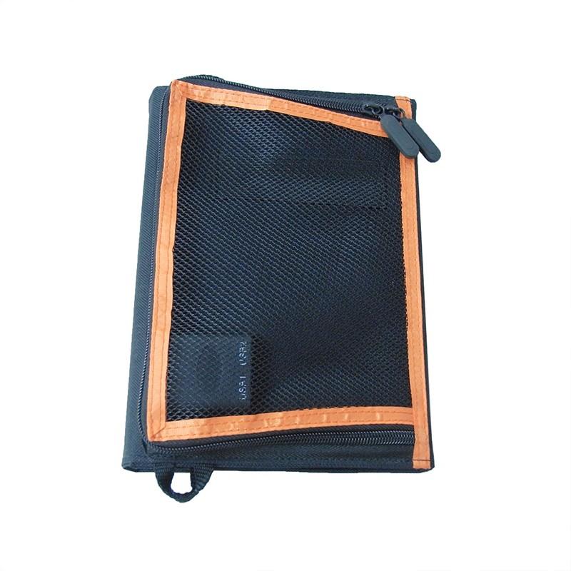 Soalr panel with mesh bag