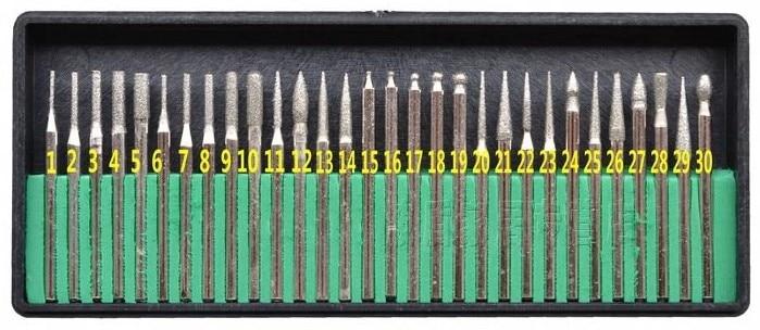 Talentool dremel utilise D3mmXL45mm 30pcs / set différentes formes - Outils abrasifs - Photo 2