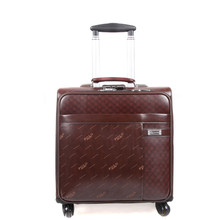 BOLOBRAVE Suitcase men travel luggage bag Synthetic cowhide commercial compute trolley case Bags, new style, spinner wheels, 16