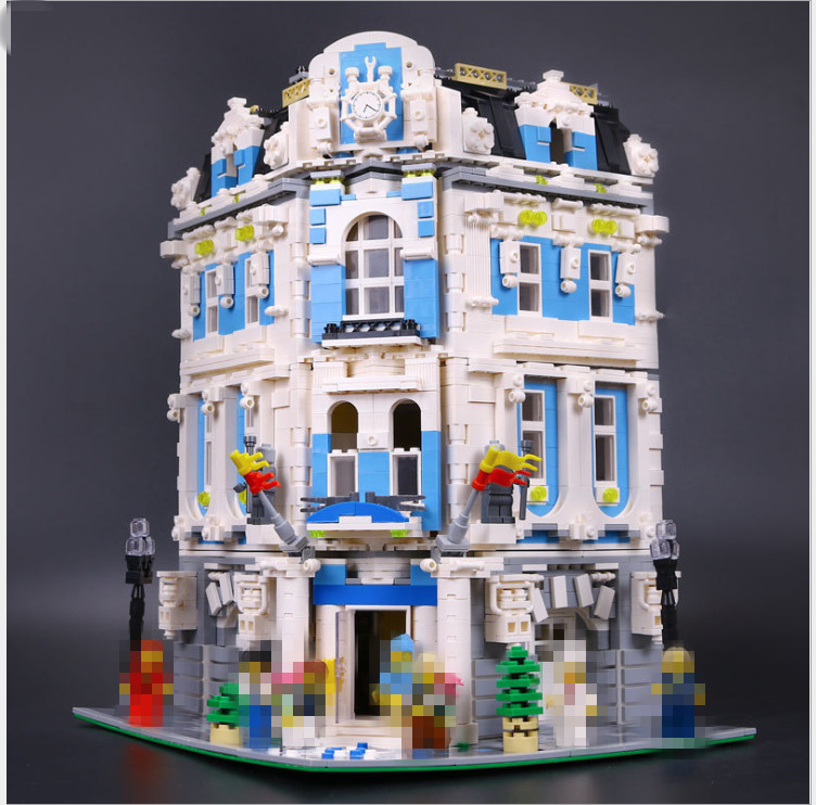 3196pcs Lepin 15018 MOC City Series The Sunshine Hotel Set Building Blocks Bricks Educational Toys DIY Children toy for kid Gift lepin 02012 city deepwater exploration vessel 60095 building blocks policeman toys children compatible with lego gift kid sets
