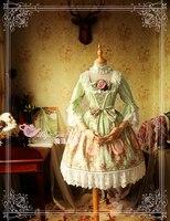2016 Новинка Лолита готика возрождение средневековый костюм Mythic платье красивое платье для девочек + головной убор