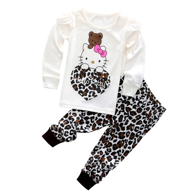 0f5804103 Infant Mickey Minnie Warm Cotton Pajamas Sets kids Anna Elsa Pyjamas Pant  2pcs Homewear Baby Girls Boys Tracksuit Clothing Suit