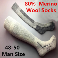 48 50 Plus Size Men S Merino Wool Socks High Quality Super Thick Male Wool Socks
