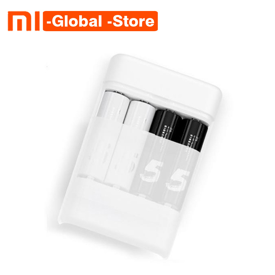 New Xiaomi ZMI ZI5 ZI7 AA AAA Ni MH Battery Charger Multifunction Charger with 4 Slots